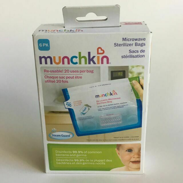 munchkin 6 microwave sterilizer bags by steamguard 735282110030