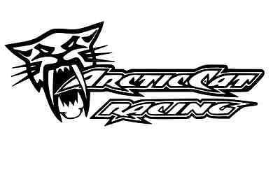 arctic cat racing sticker 2X black decal sno pro xf zr hcr