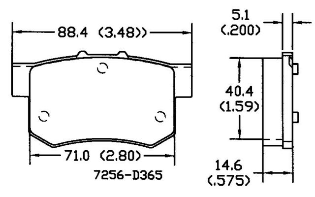 Disc Brake Pad Set Rear OMNIPARTS 13050248 fits 1990 Acura