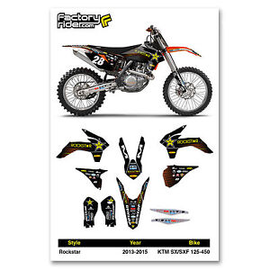 2013-2015 KTM SX/SXF Rockstar Motocross Graphics Dirt Bike