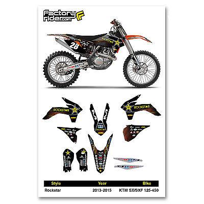2013-2015 KTM SX/SXF Rockstar Motocross Graphics Dirt Bike