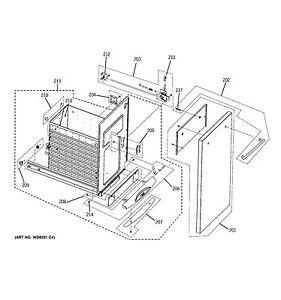 Manual combination NEW OEM GE Trash Compactor LATCH ASM