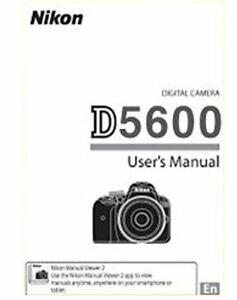 NIKON D5600 DIGITAL CAMERA USER'S INSTRUCTIONS MANUAL