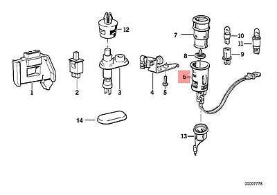 Genuine BMW E32 E34 E36 Z3 Cabrio Cigarette Lighter Socket