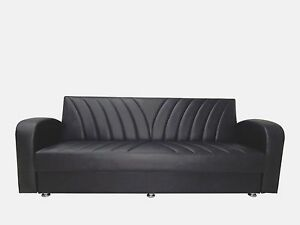 faux leather sofa bed uk where to get foam for cushions turkish fabric and 3 seater direct seller image is loading