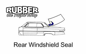 1962 1963 1964 1965 Chevy II / Chevy Nova Back Window Seal
