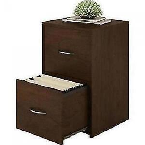 Ameriwood 2 Drawer Cabinet File Office Wood Storage Home Furniture Cherry NEW  eBay
