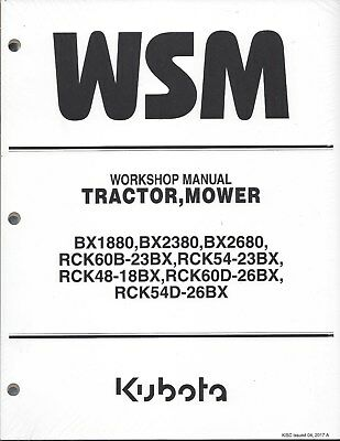 Kubota BX1880,BX2380, BX2680 Tractor Workshop Service