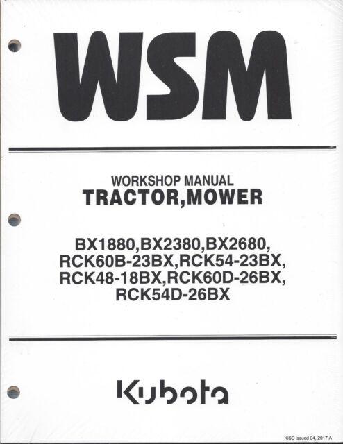 Kubota Bx2380 Bx2680 Tractor Workshop Service Manual for