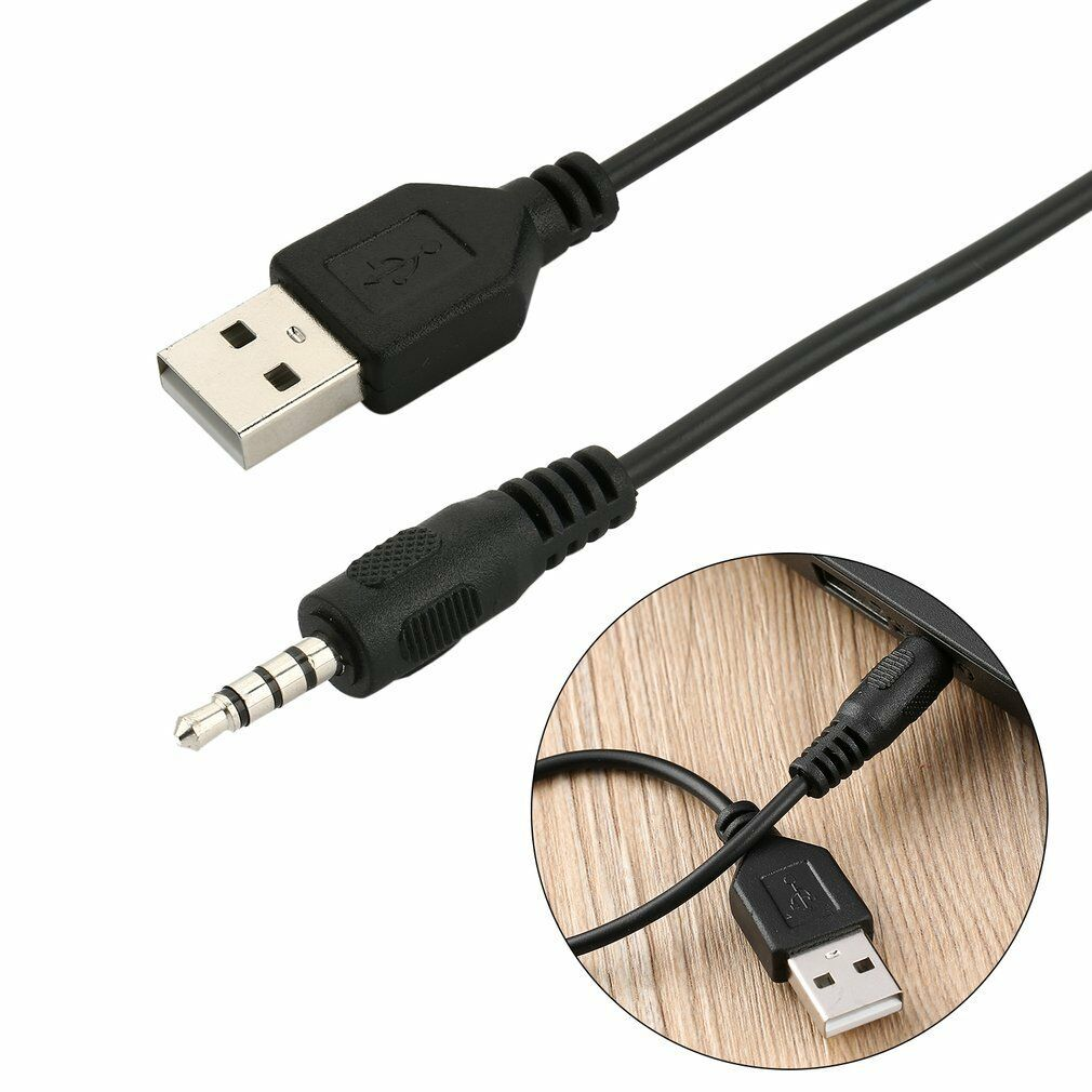 hight resolution of 3 5mm male audio aux jack to usb 2 0 type a male otg converter adapter cable tr for sale online