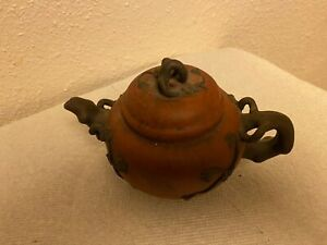 GREAT Antique Chinese Yixing Zisha Clay Teapot Of Plum Blossom and branch