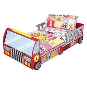 Image Is Loading Kidkraft Fire Truck Toddler Bedding 77003 Crib Mattress