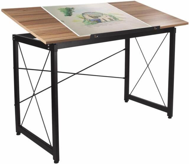 elevens drawing desk adjustable large drafting table computer desk wood oak 1