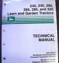 john deere models 240 245 260 265 285 320 lawn tractors [ 1037 x 1304 Pixel ]