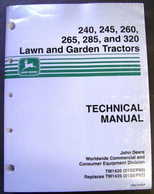 small resolution of john deere models 240 245 260 265 285 320 lawn tractors