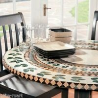 "mosaic tile Elastic fitted vinyl outdoor 48"" round patio ..."