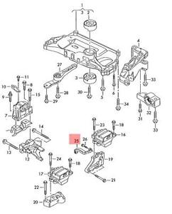 Genuine Gearbox support rear VW AUDI Beetle Convertible CC
