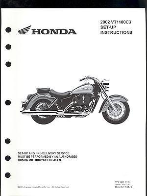 2002 HONDA VT1100C3 MOTORCYCLE SET UP & PRE-DELIVERY