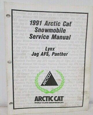 1991 Arctic Cat Lynx Jag AFS Panther Snowmobile Service