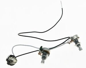 Prewired Wiring Harness Alpha 250K Mini Pots 1V1T 1 Socket