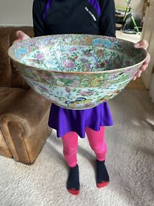 A large 19th century Chinese canton bowl