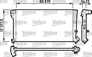Engine Cooling Radiator VALEO Fits CITROEN Xsara PEUGEOT