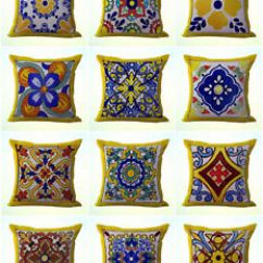 Dining Chair Covers In Spanish Blue And White Accent Target Us Seller 10pcs Cushion Mexican Talavera Image Is Loading