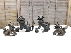 Chinese Antique Bronze Figures Satues 4X