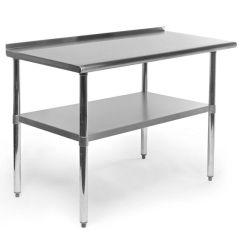 Kitchen Work Tables Gel Mats For Stainless Steel Table W Backsplash Shelf Counter Top Restaurant Bar