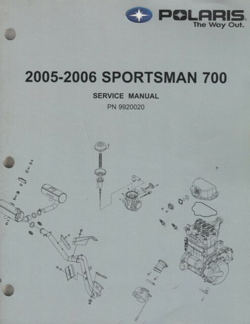 2005-2006 POLARIS ATV SPORTSMAN 700 SERVICE MANUAL 9920020