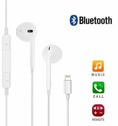 apple earpods with lightning connector in ear only headsets white for sale online ebay [ 1001 x 1001 Pixel ]