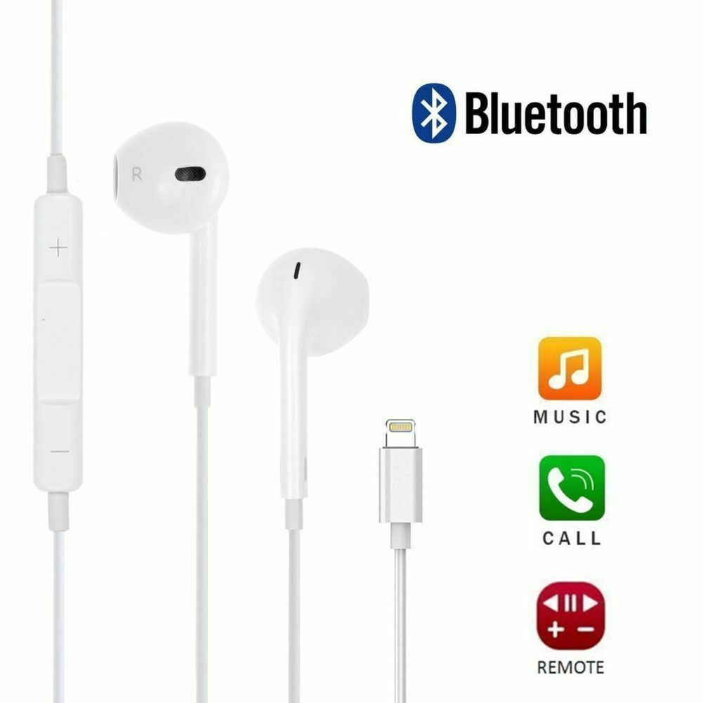 hight resolution of apple earpods with lightning connector in ear only headsets white for sale online ebay