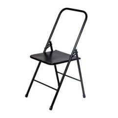 Folding Metal Yoga Chair Leanback Lounger Chairs Iyengar Backless Ebay Image Is Loading
