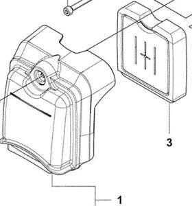 Husqvarna 130BT 530BT Air Filter + Cover assy 504115201