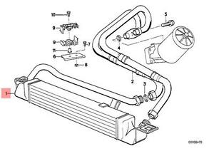 Genuine BMW E34 M5 Sedan Wagon Engine Oil Cooler OEM