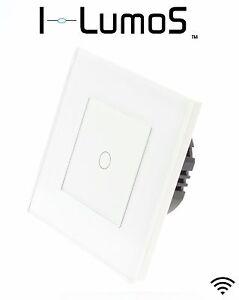 Ich Lumos Modern Weiß Glas Rahmen Touch Dimmer