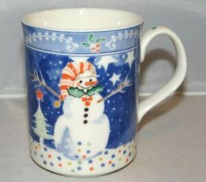 Noritake EPOCH Mr. Snowman Christmas Holiday 11oz. Mug Cup Porcelain Korea | eBay