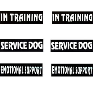 2Pcs Patches SERVICE DOG IN TRAINING Emotional Support