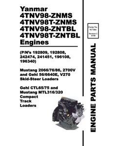 YANMAR 4TNV98 ZNMS 4TNV98T ZNMS 4TNV98 ZNTBL 4TNV98T ZNTBL
