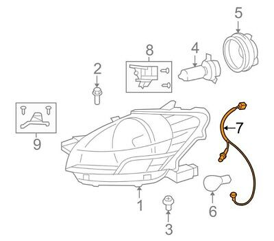 Genuine OEM Headlight Wiring Harness for Toyota 8112552750
