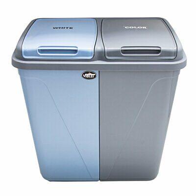 90l double compartiment cuisine poubelle waste recyclage et blanchisserie ebay