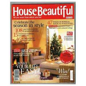 House Beautiful Magazine December 2003 January 2004 Mbox1631 Make Your Life 9145332728831 Ebay