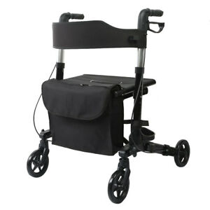 walker roller chair best task usa elenker all road rolling leg compact folding rollator image is loading