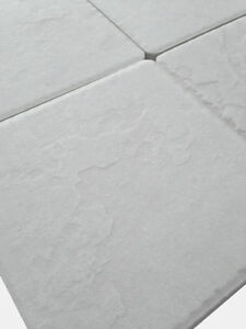 Piastrelle pavimento esterno gres porcellanato antiscivolo 15x15 Bianco Himalaya  eBay
