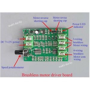 4 wire dc motor connection diagram simple cycle power plant 5v 12v brushless driver board controller for hard drive image is loading
