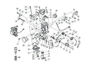 Diagram Part # 71 / KTM 400 520 / Keihin FCR Carburetor