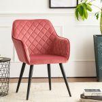 Homepop Modern Swoop Arm Accent Chair Pink Glam Mid Century Modern For Sale Online Ebay