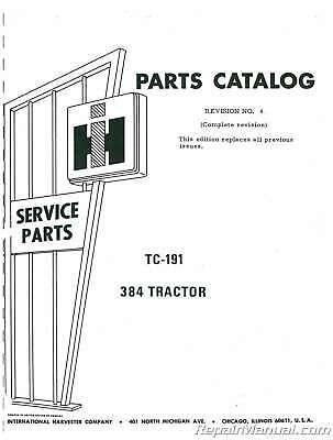 International Harvester 384 Diesel Parts Manual : JS-IH-P