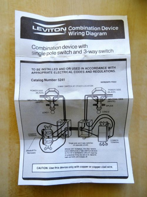small resolution of leviton ivory double toggle light switch duplex single pole and 3 way 5241 i for sale online ebay