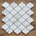 Small Arabesque Calacatta Gold Polished Marble Mosaic Tiles Kitchen Backsplash For Sale Online